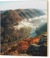 Grandview New River Gorge Wood Print