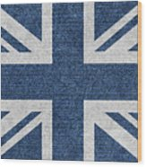Great Britain Denim Flag Wood Print