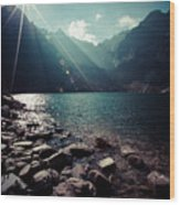 Green Water Mountain Lake Morskie Oko, Tatra Mountains, Poland Wood Print