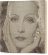 Greta Garbo, Vintage Hollywood Actress Wood Print