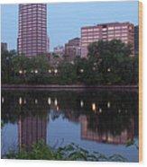 Hartford Skyline Panorama Wood Print