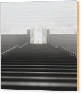 Heavens Gates And Silhouette Wood Print