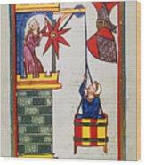 HEIDELBERG LIEDER, 14th C Wood Print