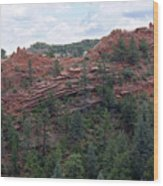 Hiking The Mesa Trail In Red Rocks Canyon Colorado Wood Print