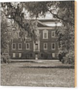 Historic Drayton Hall In Charleston South Carolina Wood Print by Dustin K Ryan
