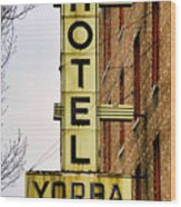 Hotel Yorba Wood Print by Gordon Dean II