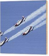 Iaf Acrobatic Team Wood Print