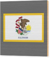 Illinois Flag Wood Print