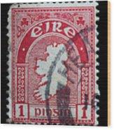 Irish Postage Stamp Wood Print