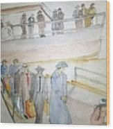 Italians  Ellis Island  Prohibition Album Wood Print