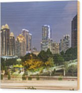 Jakarta Twilight Wood Print