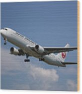 Japan Airlines Boeing 767-346 Wood Print