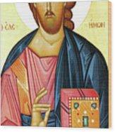 Jesus Teaching Wood Print