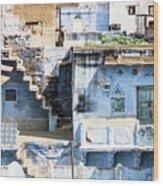 Jodhpur Blue City Wood Print
