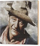 John Wayne Hollywood Actor Wood Print