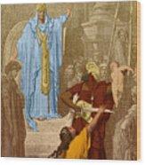Judgment Of Solomon Wood Print