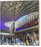 Kings Cross Rail Station London Wood Print