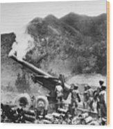 Korean War: Artillery Wood Print