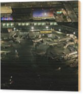 Laguardia Airport Aerial View Wood Print