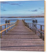 Lake Pier - England Wood Print
