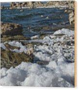 Lakefront At Mono Lake, Eastern Sierra, California, Usa Wood Print