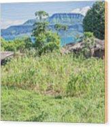 Landscape At The Lake Malawi Wood Print
