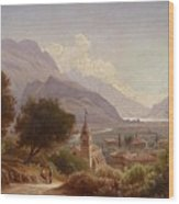 Landscape In Upper Italy Wood Print