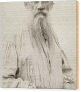 Leo Tolstoy (1828-1910) Wood Print