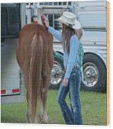 Lil' Cowgirls Wood Print