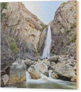 Lower Yosemite Fall In The Famous Yosemite Wood Print