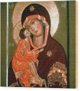 Madonna Religious Art Wood Print