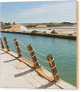 Main Canal - Trapani Salt Flats Wood Print