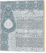 Mandala Ketubah- Ready To Fill Wood Print