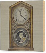 Mantel Clock Wood Print