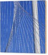 Margaret Hunt Hill Bridge In Dallas - Texas Wood Print