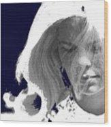 Margie In Repose Tucson Arizona 1969-2012 Wood Print