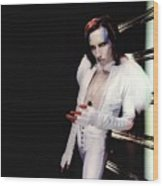 Marilyn Manson Wood Print