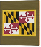 Maryland Flag Wood Print