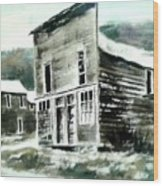 Marysville Ghost Town Montana Wood Print