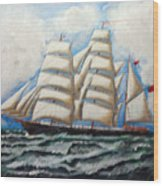 3 Master Tall Ship Wood Print