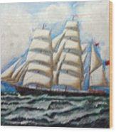 3 Master Tall Ship Wood Print