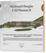 Mcdonnell Douglas F-4d Phantom II Wood Print