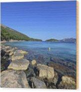 Mediterranean Seascape  Wood Print