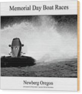 Memorial Day Boat Races Wood Print