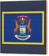 Michigan Flag Wood Print