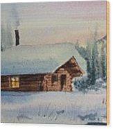Montana Winter Wood Print