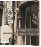 Montreal Street Scene Wood Print