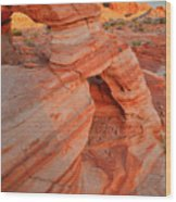 Morning Comes To Valley Of Fire Wood Print