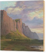Mount Arapiles And The Mitre Rock Wood Print