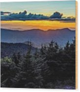 Mount Mimtchell Sunset Landscape In Summer Wood Print